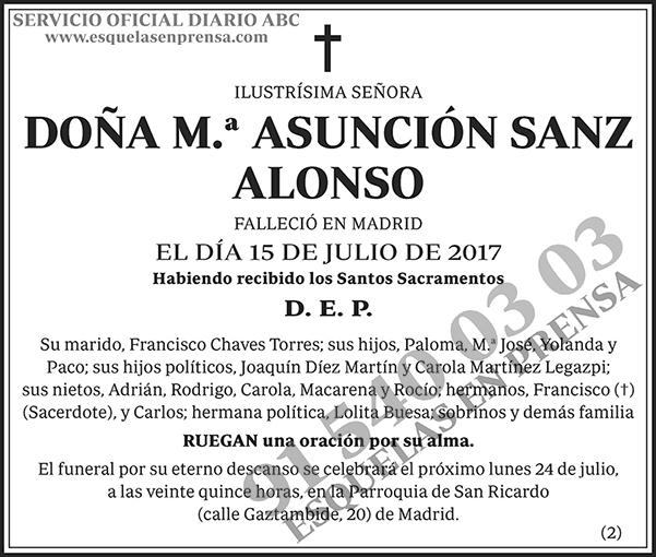M.ª Asunción Sanz Alonso